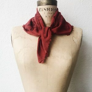 Accessories - 🌿 poppy red botanical bandana scarf (last one)